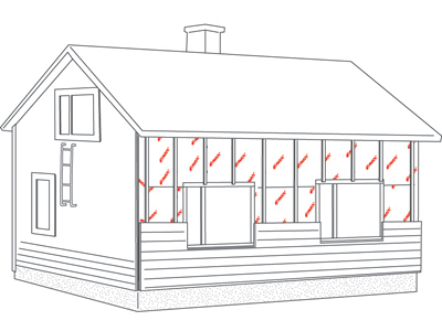 Timber frame, additonal insulation 5